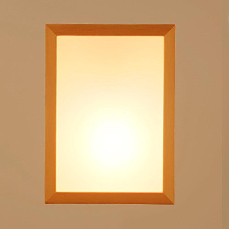 JUIANG Moderne Wandlampe Nachttischlampe Kreative Holz Führte Wohnzimmer Gang Balkon Schlafzimmer Beleuchtung Wandleuchte Acryl Schatten E27 220 V