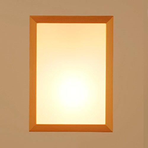 JUIANG Moderne Mur Lampe De Chevet Lampe Creative Bois LED Salon Allée Balcon Chambre Éclairage Mur Lampe Acrylique Abat Jour E27 220 V