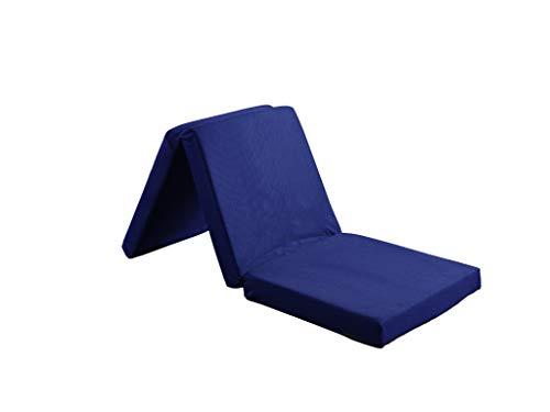 Visco Therapy Badenia Guest Folding Mattress 3pcs Folding Day Bed/Futon Mattress (Navy)