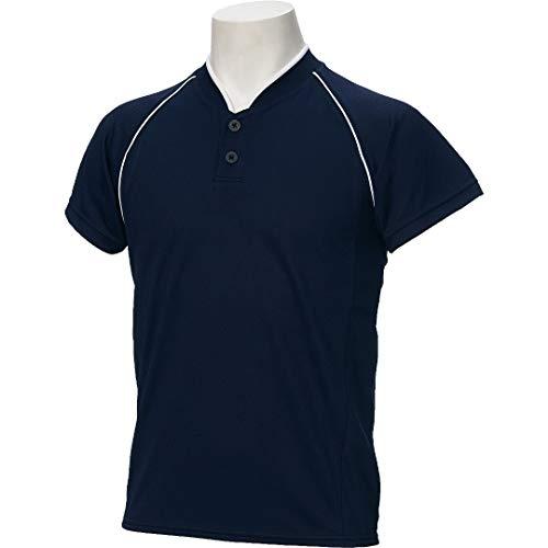 アシックス(asics) 野球 ウェア ジュニア ベースボール シャツ 半袖 2ボタン BAD11J 120サイズ ネイビー/ネイビー BAD11J ネイビー/ネイビー 120