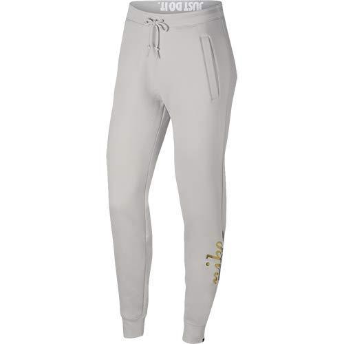 Nike W NSW Rally Pant Reg Metallic Pantaloni, Grigio, L Donna