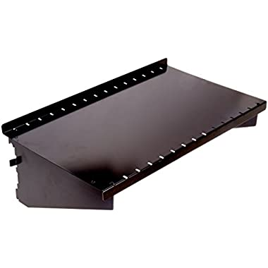 Wall Control ASM-SH-1609 B 9  Deep Pegboard Shelf Assembly for Wall Control Pegboard Only, Black