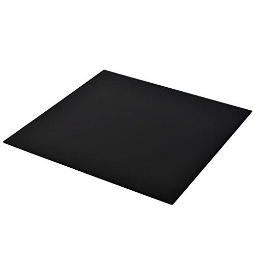 Vislone Cristal Cuadrado Tablero de Mesa Templado de Cristal para Mantener Superficie de Mesas de Comedor Mesas de Café Mesas de Jardín Negro 700x700mm