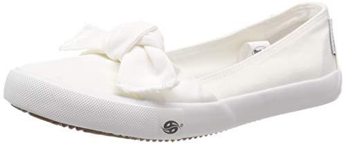 Dockers by Gerli Women's Ballet Flats, White Weiss 500, 9