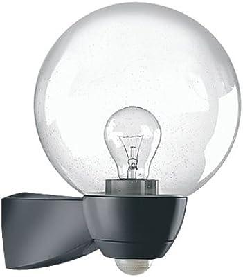 Esy-Lux El10026119 Luminaire Automatique avec Détecteur de Mouvement 130° 100 W E27 Noir