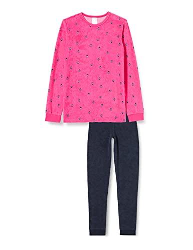 Schiesser Mädchen Frottee Md Schlafanzug Lang Pyjamaset, pink-gem, 140