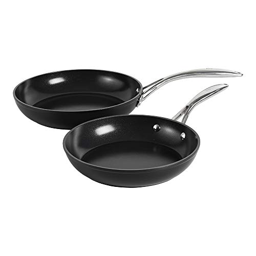 ProCook Professional Ceramic - Set Poêles à Frire Compatibles Tous Feux Dont Induction - 24cm & 28cm - Revêtement Antiadhésif Céramique & Titane Sans PFOA - Manches en INOX Isolants
