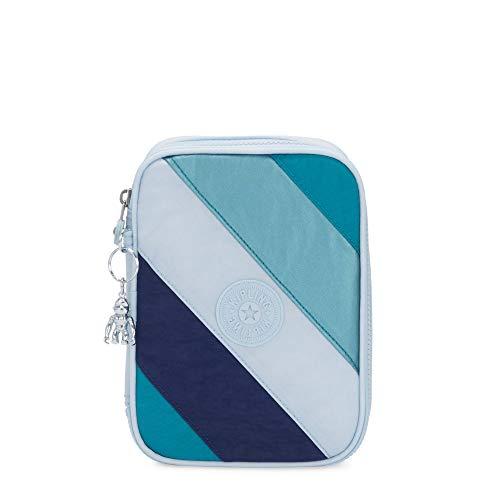 Kipling 100 Pens Case, Blue Mix Block