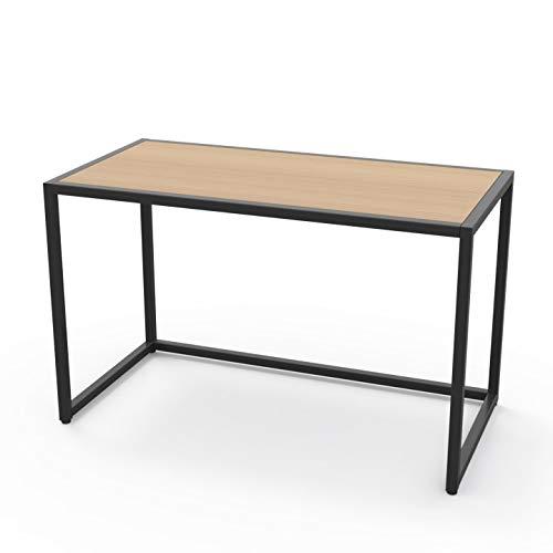 LEVIRA – Mesa de Oficina, Escritorio, Adda - 120 x 74 - Negro y Roble Blanco