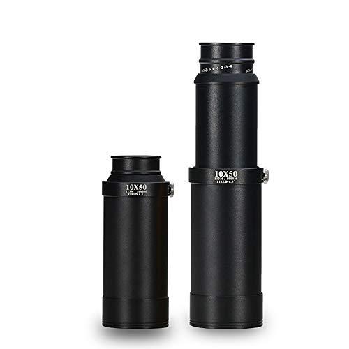 Maleian Monocular 10X50 HD con Soporte telescopio Telescopio con Pegamento Adecuado para Uso en Exteriores Exhibición de cúpula/Fuegos Artificiales/Reloj Deportivo/Viaje/observación de Aves /