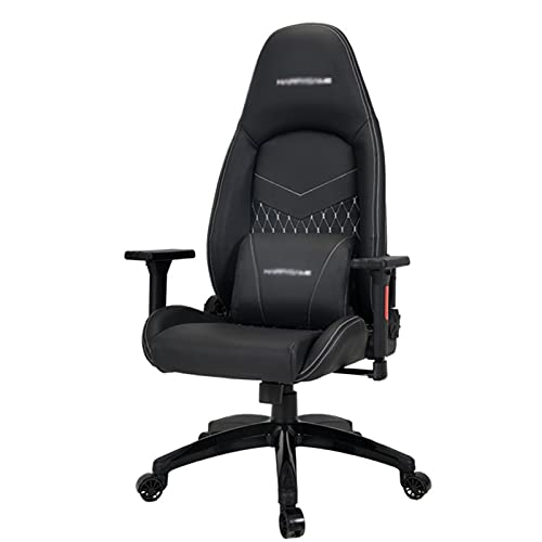 HXJU Silla de oficina giratoria ejecutiva, silla de juegos de carreras de respaldo alto, silla de escritorio ajustable ergonómica, silla de trabajo de piel sintética con soporte lumbar