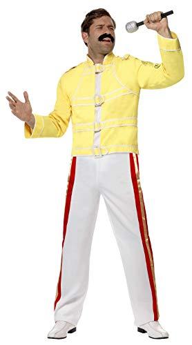 "Smiffy's Disfraz de Freddie Mercury para Hombre, Reina Amarilla Medium (37-40"" Chest)"