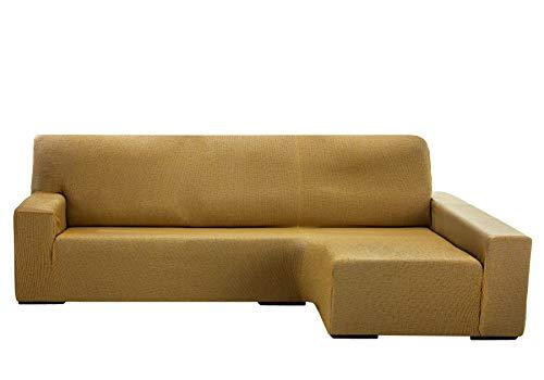 Martina Home Protection canapé avec Chaise Longue élastique Beirut, Beige, Bras Droit de 240 à 280 cm