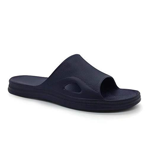 HEVA Chanclas para Hombre Ducha y Baño Zapatillas EVA Playa Sandalias(43 EU Azul)