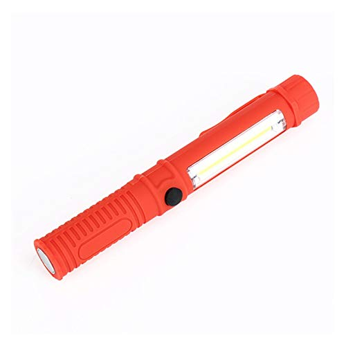 Outdoor String Lights 2 LED Super Bright Flashlight Mini Pen Multifunction LED Torch Light Magnet COB Handle Work Flashlight Square Work Hand Torch (Wattage : Red)