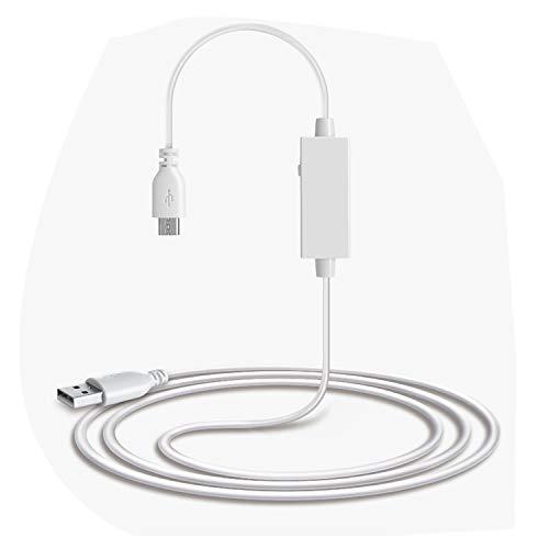 JYGypsophila USB 2.0 Mannelijke Naar Micro USB Mannelijke USB Vrouwelijke OTG Data Kabel Voor Android Telefoons/Tabletten Met OTG Functie, Met Schakelaar, Lengte: 1.1m (Kleur : Wit)