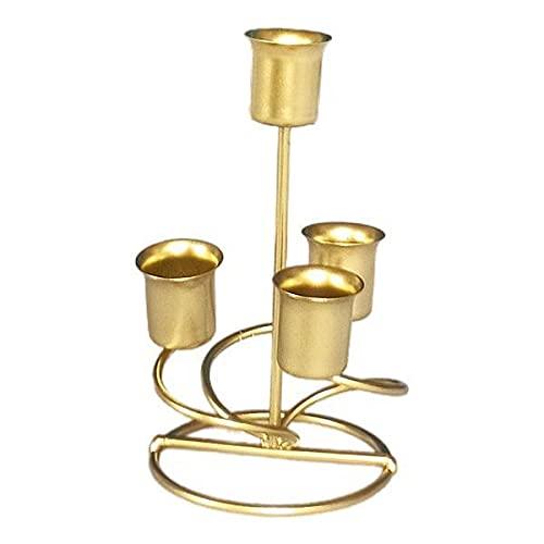 N\C 2xCandelieri Portacandele Candelabro Candelabro per La Cena di Nozze d'oro
