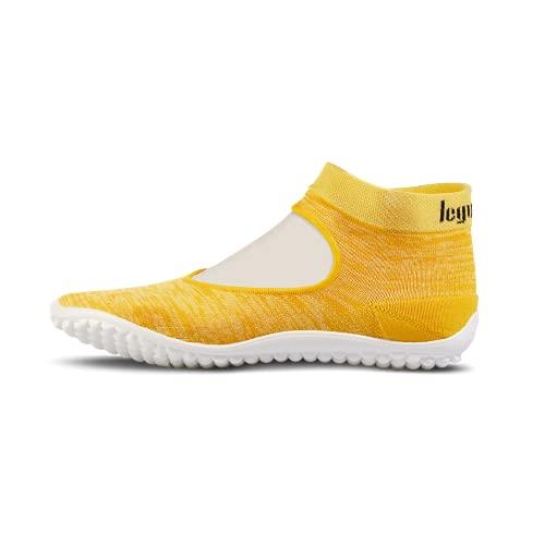 leguano Ballerina gelb – Leichter Barfußschuh für Damen (Numeric_40)