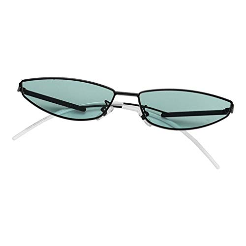 Amuzocity Eye Cat Sunglasses Gafas de Sol Vintage Ultraligeras para Viajes a La Playa - Verde Negro