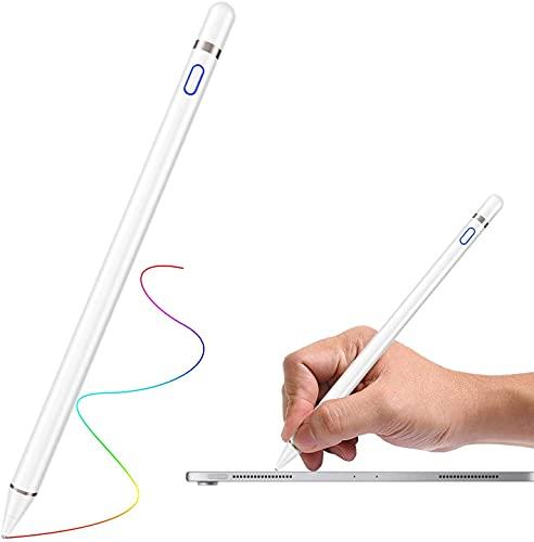 Penna per Tablet,Penna Touch per iPad,Pennino per Tablet Punta Fine da 1,5 mm,Pennino per Tablet di Rame Ricaricabile Ad Alta Precisione,Penna Capacitiva Universale per iOS Android Smartphone&Tablet