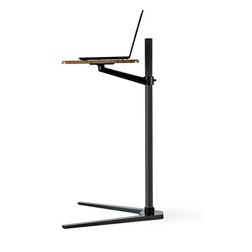 Mechanical Parts Height Adjustable Mobile Laptop Stand Desk Rolling Cart Height Adjustable Couch Bed Laptop Desk Bedside Tables Can Move The Coffee Table Tablet Laptop Stand Can Lift (Color : Black