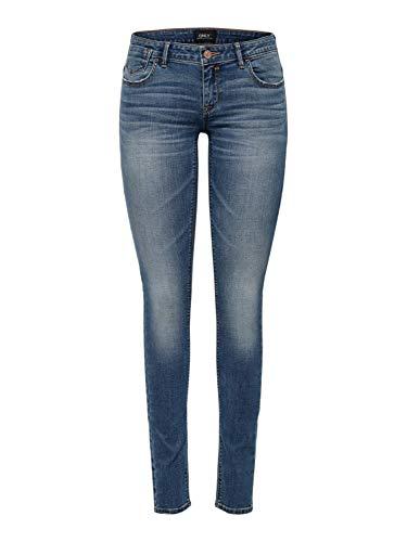 ONLY Damen Onlcoral Superlow Sk JNS Bb Crya041 Noos Jeans, Dark Blue Denim Dark Blue Denim, 28W / 32L
