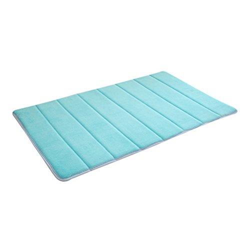 Yardwe Tapis de Bain en Mousse viscoélastique antidérapant Absorbant Doux, épais et durables Tapis de Cuisine Tapis de Cuisine Tapis de Sol (Bleu) 60x40cm
