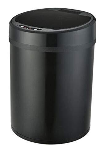 Cocina sin contacto automática Sensor Bin 8L Color Color Acero, Oficina basura de la papelera Bote de la sala de estar Bote de basura Bande Bank Bath Bath Bath Dustb black-6L