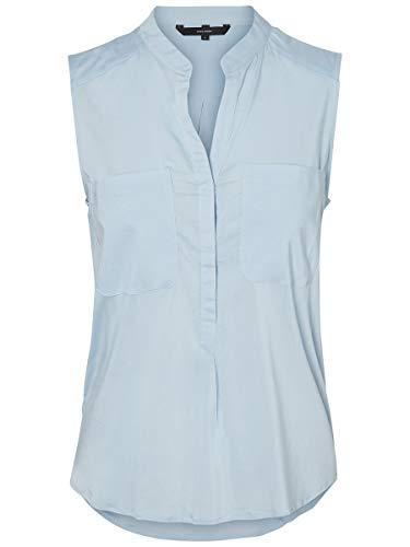 VERO MODA Female Hemd ohne Ärmel Klassische LCashmere Blue