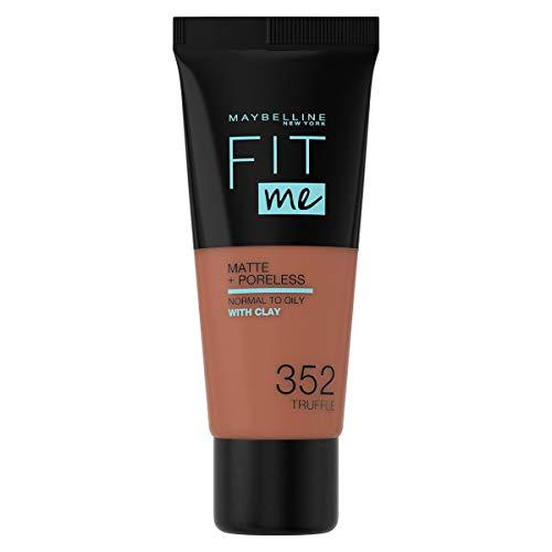 Maybelline New-York - Fond de Teint Fluide Fit Me Matte & Poreless - Peaux normales à grasses - teinte : 352 Cacao - 30 ml