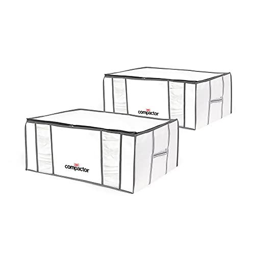 Compactor Lot 2 Life Housse de rangement sous vide, Blanc, XXL, 65 x 50 x H 27 cm, RAN8121