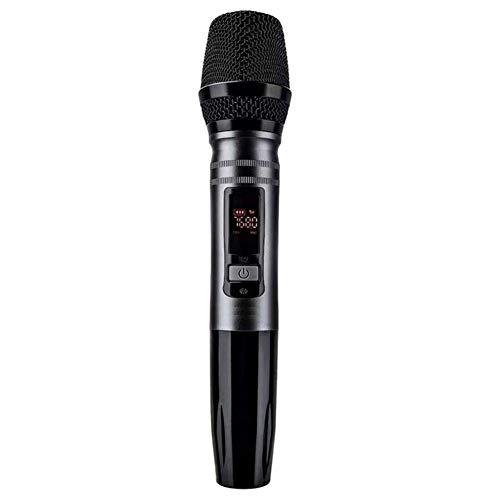 Drahtloses Mikrofon, automatisches drahtloses dynamisches Mikrofonsystem mit Empfänger für Verstärker Mixer Lautsprecher Desktop Bus Audio Schwarz