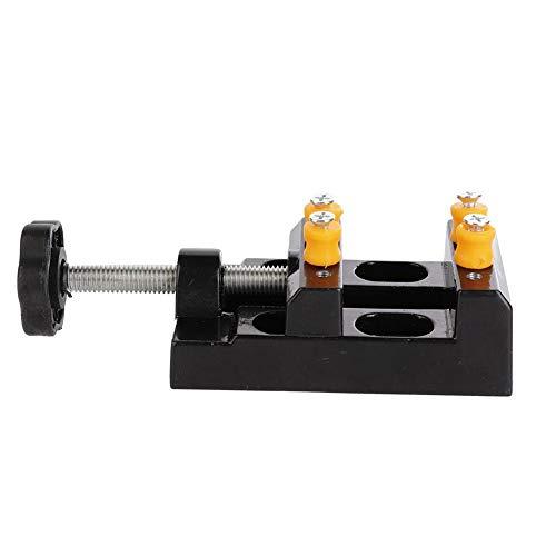 Mire el tornillo de banco del removedor, soporte de tornillo de banco ajustable de fácil operación, aluminio para herramientas de soporte de caja de reloj accesorios de reparación de relojes