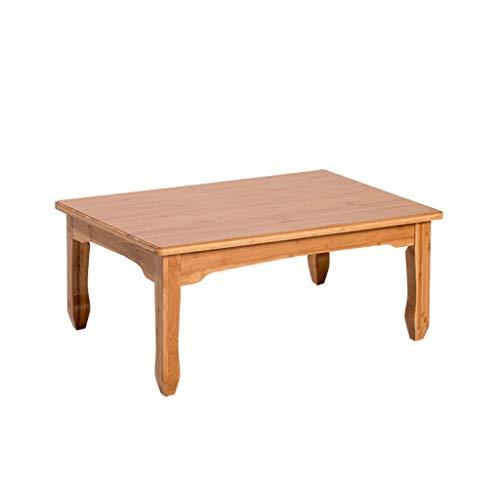 AVOA Perchero simple de bambú grueso para el hogar, mesa de café con panel liso, mesa de té redondeada para dormitorio, sofá, sala de estar, soporte para abrigos (tamaño: 80 x 40 cm)