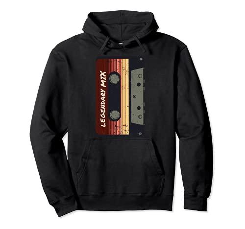Diseño de música retro con cinta de cassette vintage Sudadera con Capucha