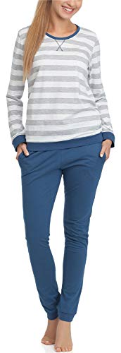 Cornette Damen Schlafanzug M4LL6 (Jeans, S)