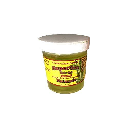 AFRICAN FORMULAS Supergrow Extra Hold Hair Gel, 16 OZ