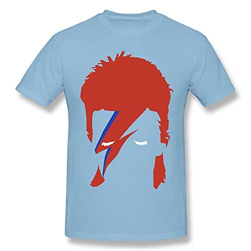 David Bowie - Camiseta básica de manga corta para hombre, color negro