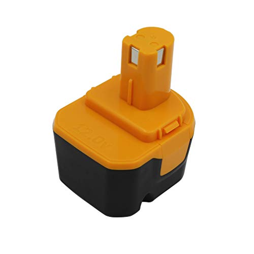KINSUN Sustitución poder herramienta batería 12V Ni-MH 3000mAh para Ryobi Taladro inalambrico atornillador de impacto B-1230H,B-1222H,B-1220F2,B-1203F2,1400652,1400652B,1400670