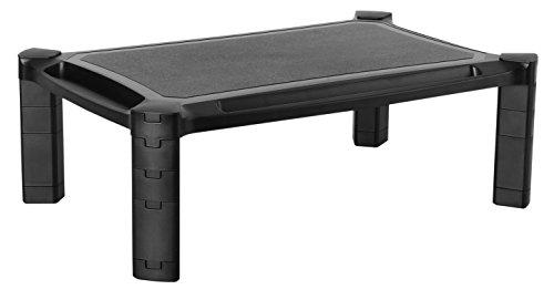 RICOO Soporte de Pantalla Plana PC WM1-L para Mesa de sobremesa con Soporte de Monitor Ordenador 4K OLED TV Pantalla táctil para portátil Soporte de Touch Screen Regulable en Altura de plástico Negro