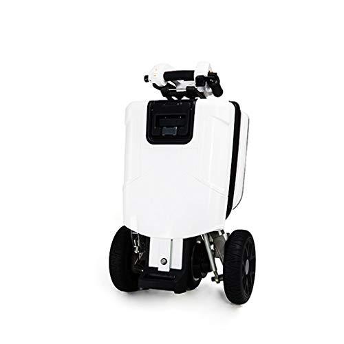 LQQ Motorized smart Balance Scooter Folding Gepäck-Stil 3-Rad-Elektro-Fahrzeug 2X48V 6.6ah / 20km / H Cruising Reichweite 20km Ladegewicht 100 Kg Kann Trunk Into The des Autos Gesetzt Werden 2020