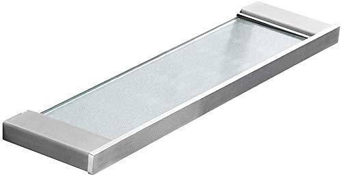 WDHWD Glazen Plank Glazen Plankje, 304 Roestvrij Staal Spiegel Voorframe Enkele Laag Make-up Rack Wasstandaard badkamerplank (Maat: 35cm)