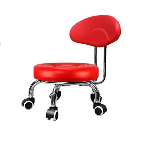 QFdd Chambre Le Salon Pédicure Changer De Chaussures Chaise à roulettes, Tapissé Châssis en Acier Tabouret De Bureau Debout 23 Banc Siège