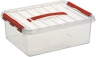Sunware Q-Line Boîte de Rangement, Rouge Transparent, 12Litre