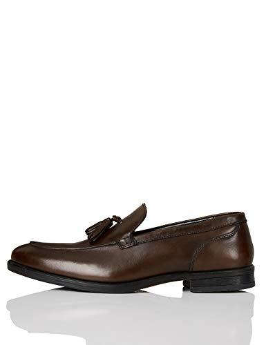 Marca Amazon - find. Abe_HS01 Mocasines, Marrón (Chocolate Brown Chocolate Brown), 44.5