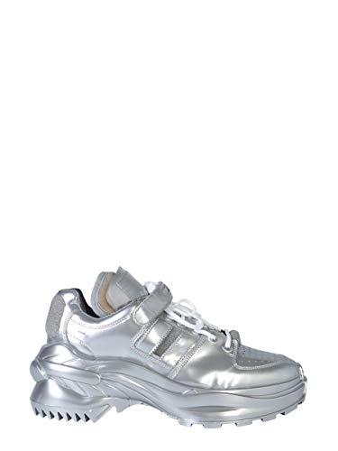 Maison Margiela Luxury Fashion Herren S57WS0254P2498T9002 Silber Leder Sneakers | Herbst Winter 19