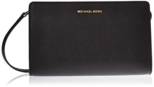 Michael Kors Damen Jet Set Travel Tornistertasche, Schwarz (Black), 4.4x16.5x25.4 cm