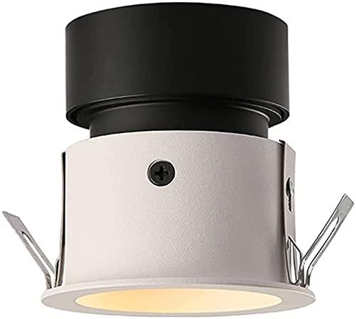 Raelf Lámpara de Techo de Downlight LED sin lámpara Principal Foco incrustado Lámpara de Techo para el hogar Sala de Estar Marco Estrecho Edge Anti Glare Iluminación Interior Spotlight