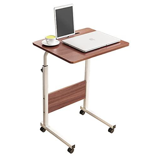 SogesHome Mesa de Ordenador Portatil60 * 40cm con Ranura para Tableta,Escritorio de Altura Regulable,Mesa Auxiliar portátil para sofá Cama,SH-CXYM-5-3-60HW ⭐