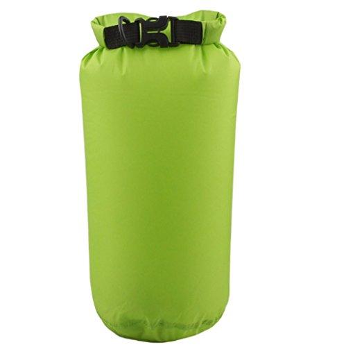 zedtom 8L alta calidad PU resistente al agua bolsa stau Sack Pack bolsas DryBag para exterior, (verde claro)
